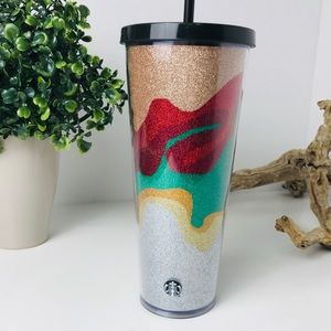 NWT Starbucks cup | 24 oz holiday glow glitter cup